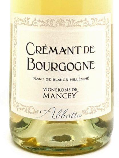 Achat de crémant de Bourgogne millésimé 2015 blanc de blancs - Abbatia - Vignerons de Mancey - Tastavin caviste sur internet