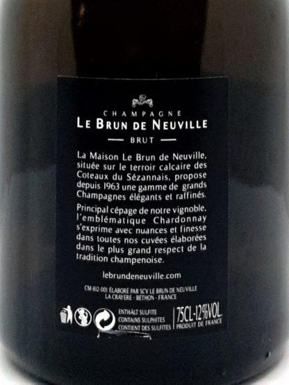 Achat de vin en ligne - Champagne Lady de n - Le brun de neuville - Tastavin véritable caviste