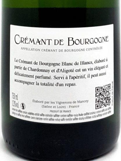 Achat de crémant sur internet - Bourgogne blanc de blancs brut - Vignerons de Mancey - Tastavin livraison de vin à domicile
