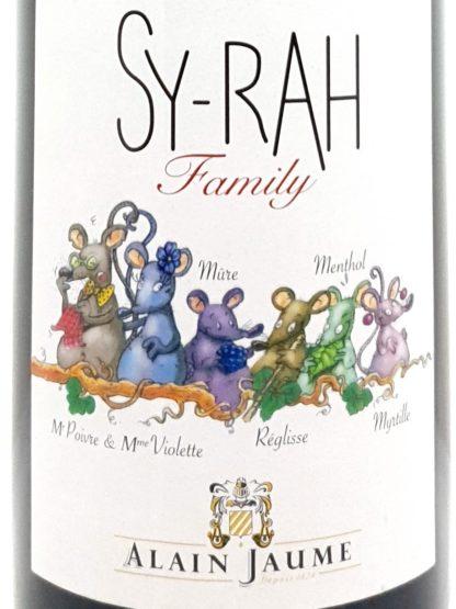 Achat de vin rouge sur internet - Sy Rah family du domaine Alain Jaume - Tastavin votre livreur de vin à domicile