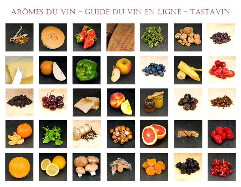 Arômes du vin - Reconnaitre les différents arômes présents dans le vin grâce au guide du vin en ligne de Tastavin.
