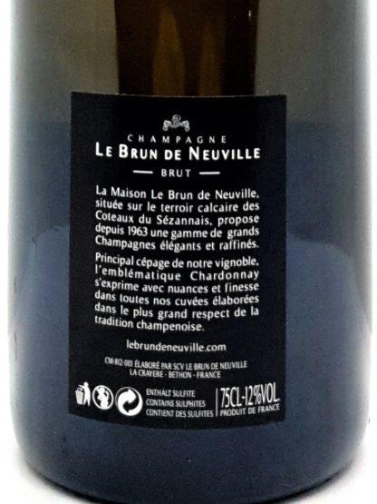 Champagne à commander sur internet - Blanc de blancs Le Brun de Neuville chez Tastavin