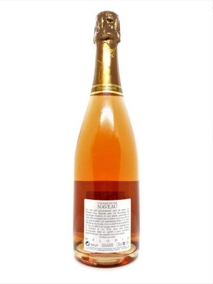 Vente de vin en ligne - Arrière bouteille Champagne premier cru rosé Mélodie du domaine Naveau - Tastavin votre caviste sur internet