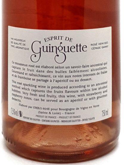 Commande vin mousseux en ligne - Esprit de Guinguette - Rosé demi-sec à base de Gamay - Bourgogne vignerons de Mancey - Tastavin véritable caviste
