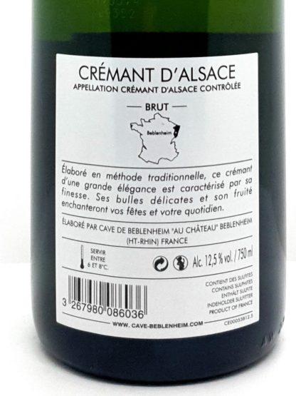 Vin pétillant d Alsace aux fines bulles - Crémant de la Cave de Beblenheim à commander en ligne chez Tastavin, livraison sure et rapide