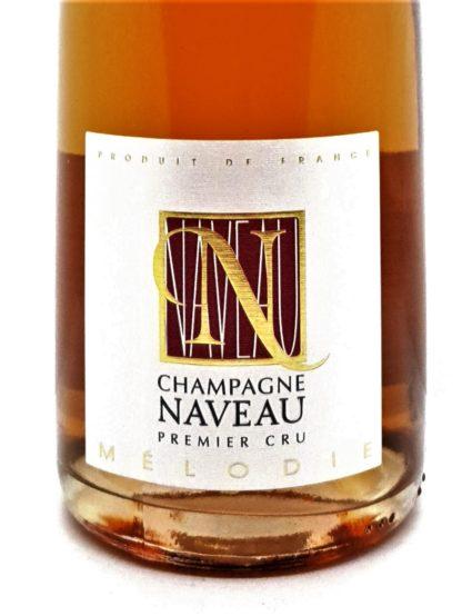 Étiquette bouteille de Champagne rosé premier cru Mélodie domaine Naveau - Tastavin caviste en ligne