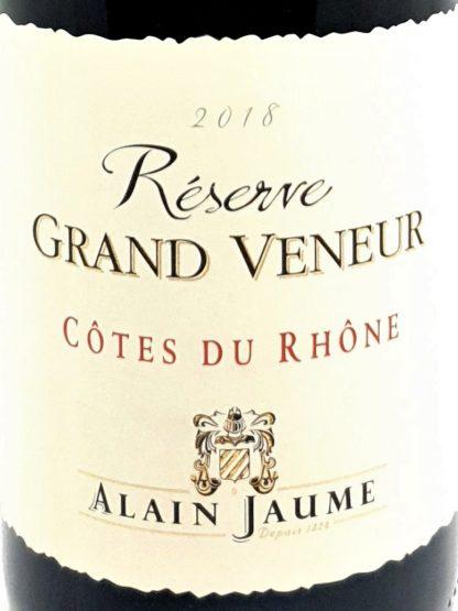 Livraison à domicile de vin rouge - Côtes du Rhône réserve Grand Veneur - Alain Jaume - Tastavin caviste en ligne