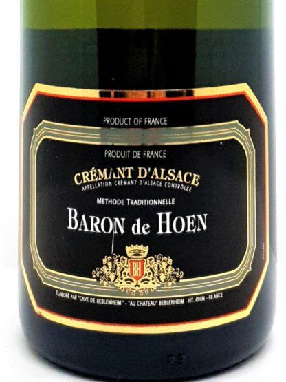 Vente de crémants en ligne - Alsace brut Baron de Hoen - Cave de Beblenheim - Tastavin livraison de vin à la maison simple et pas cher