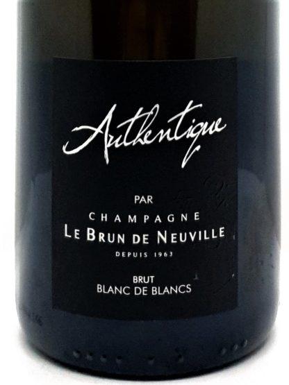 Vente de champagne en ligne - Le Brun de Neuville blanc de Blancs Authentique chez Tastavin, commande de vos champagnes sur internet