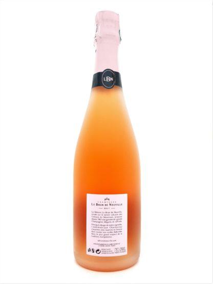 Arrière bouteille de champagne tendre rosé - Le Brun de Neuville - Tastavin vente de vin en ligne