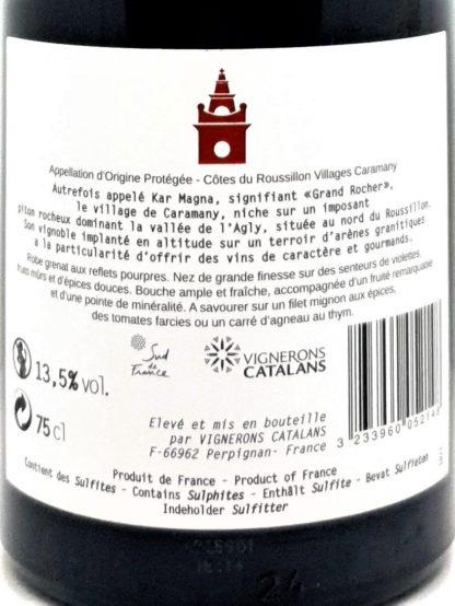 Vin en vente sur internet - Rouge Roussillon villages - Kar Magna vignerons catalans - Tastavin votre caviste expert en vins francais