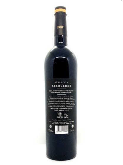 Vin rouge à commander en ligne - Côtes du Roussillon villages - Signature Lesquerdes - Vignerons catalans - Tastavin livre vos vins chez vous en France et en Europe