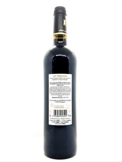 Achat de vin en ligne - Côtes du Roussillon villages - Latour de France - Les Terrasses 2014 - Vignerons catalans - tastavin votre caviste sur internet