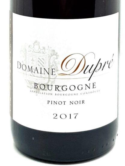 Commande de vin rouge en ligne - Pinot noir 2017 - Domaine Dupré - Végan - Tastavin votre livreur de vin à domicile