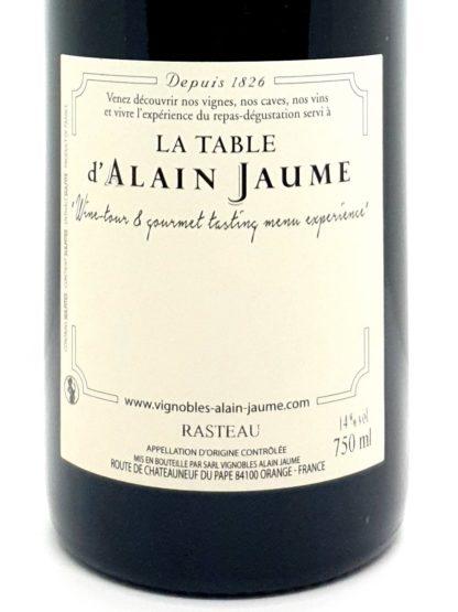 Vente de vin rouge des Côtes du Rhône en ligne - Rasteau Les Vallats 2016 - Alain Jaume - Tastavin votre caviste sur internet