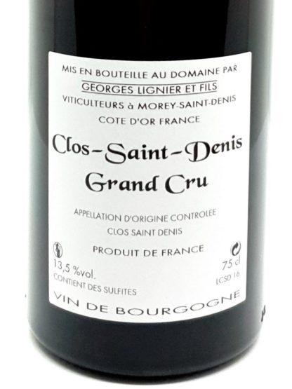 Livraison de vin rouge à domicile - Clos Saint Denis grand cru 2016 - Georges Lignier et fils - Tastavin votre caviste en ligne