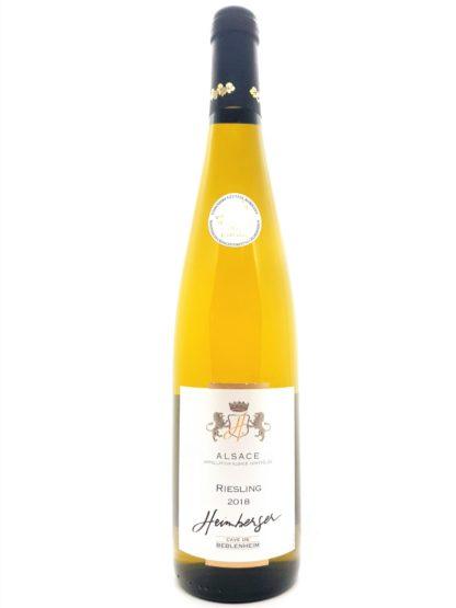 Vente de vin blanc d'Alsace en ligne - Riesling 2018 de la cave de Beblenheim - Tastavin votre caviste sur internet