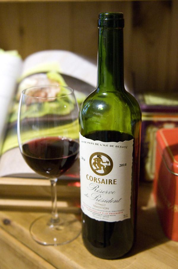 Dégustation, avis et test du vin rouge de pays corse réserve du président 2014