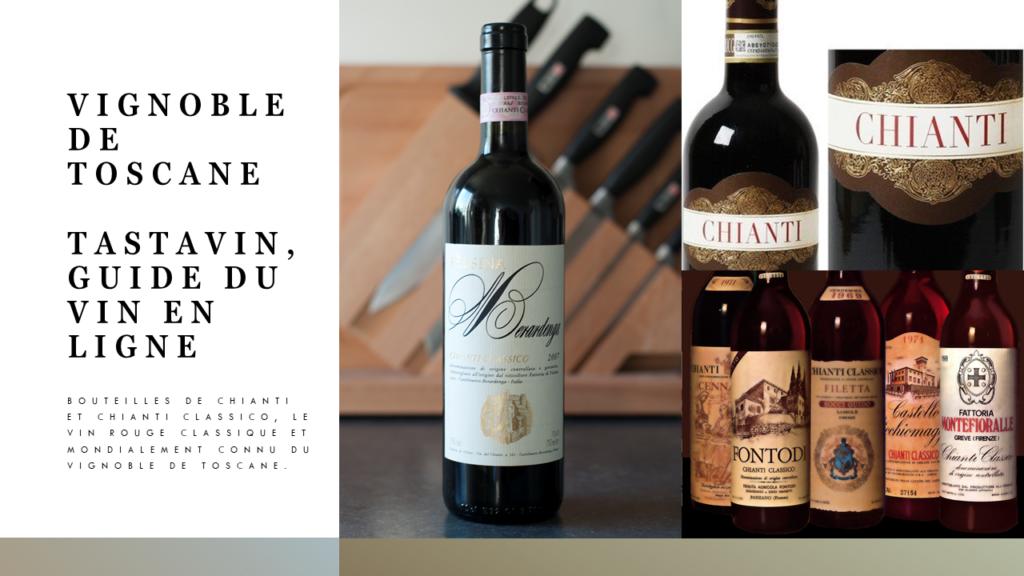 Les vins rouges Chianti et Chianti Classico sont certainement les plus connus du vignoble de Toscane avec leur forte teneur en Sangiovese. Guide du vin en ligne Tastavin.